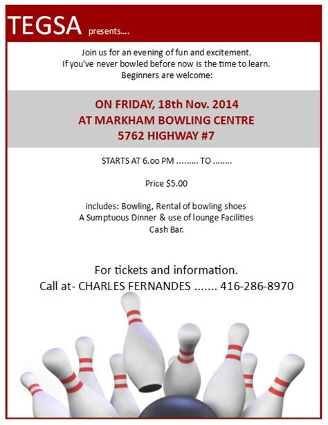 bowling flyer template publisher templates for tickets