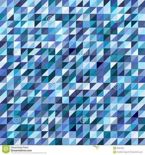 mosaic pattern triangle geometric mosaic pattern from blue triangle stock vector