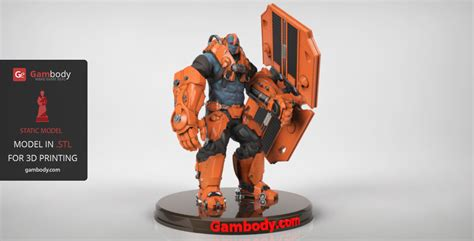 figure 3d model epic paragon steel 3d model 3d printable stl gambody