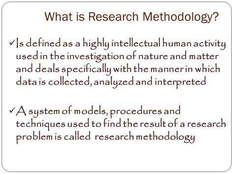 what is the research introduction to research methodology ppt