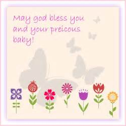 baby shower message greeting card may god bless you and your precious baby click to