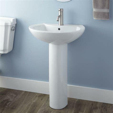 Pedestal For Sink by Signature Hardware Maisie Porcelain Pedestal Sink Ebay