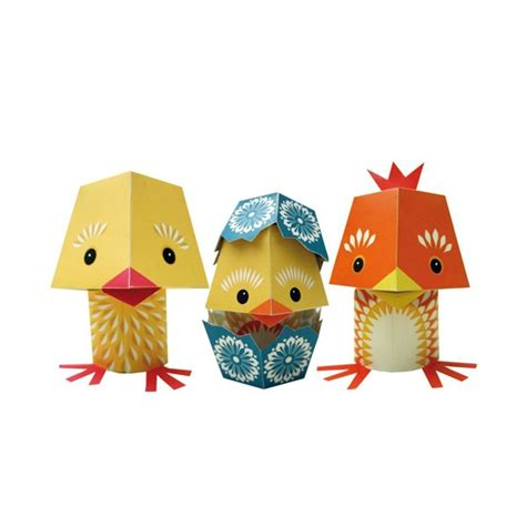 Toys With Paper - paper toys the yolk folk mibo coq en pate