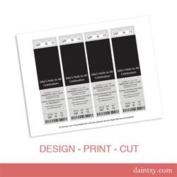Ticket Invite Template Free by Event Ticket Photo Invitation Template Printable Diy Make