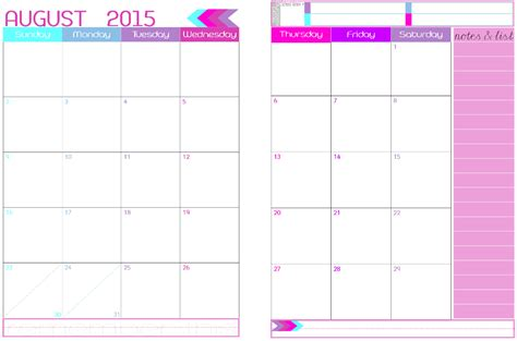 free printable 2016 2 page monthly calendar 5 5 x 8 5 8 best images of 2016 printable 2 page per month planner