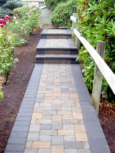 10 front walkways for maximum curb appeal paver walkway stone pictures and brick pavers