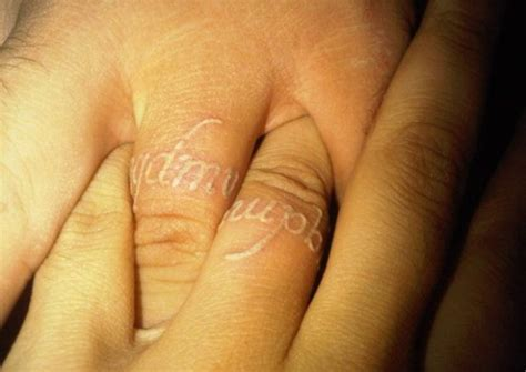 white finger tattoo wedding finger tattoos engagement ring unique