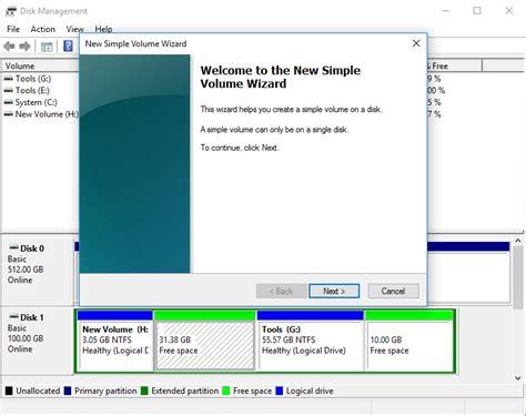 diskpart format cluster size too big partition hard drive windows 10 disk management