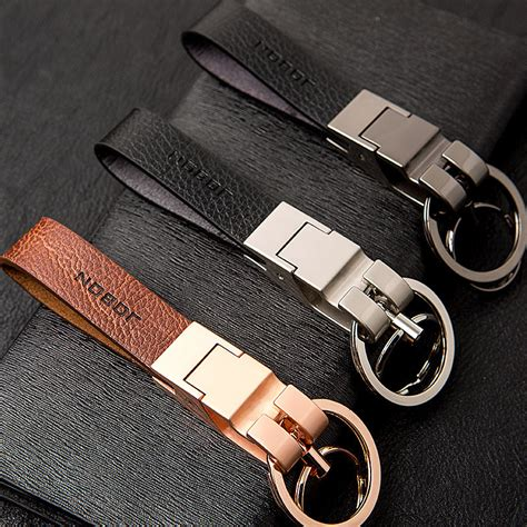 And S Car Key Chain Stainless Steel Leather Keyring Keychain new cool luxury stainless steel metal key chain car key