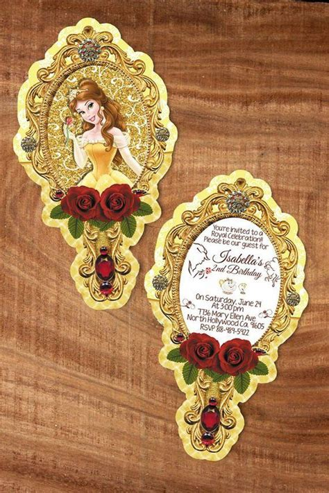 Alized Beauty And The Beast Mirror Invitation