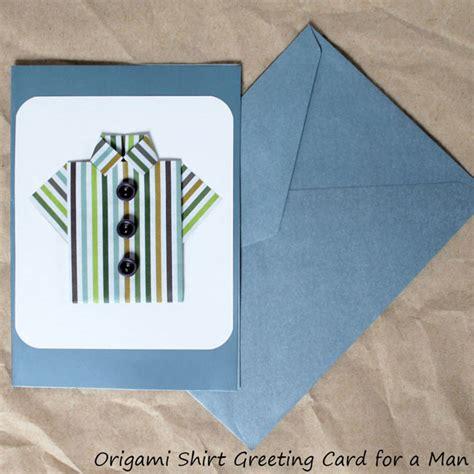 Little Origami Shirt A Handmade Greeting Card For A Man