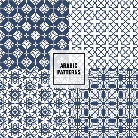 pattern download ai blue arabic patterns vector free download