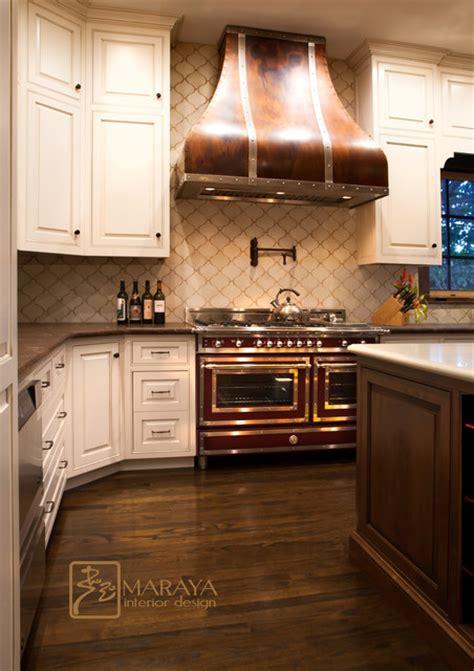 copper kitchen cabinets italian white kitchen copper hood mediterranean