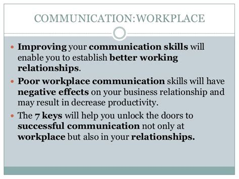 Communication In The Workplace Essay by Establish Effective Workplace Relat