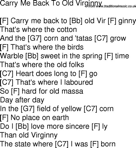 time song lyrics with guitar chords for carry me back