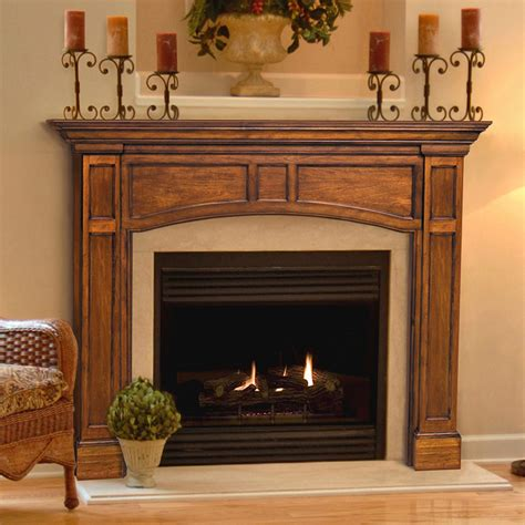 Wooden Fireplace Surround by Pearl Mantels Vance Wood Fireplace Mantel Surround