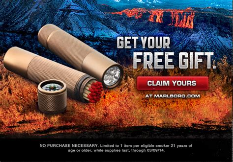 Marlboro Giveaways - you can also get a cool freebie