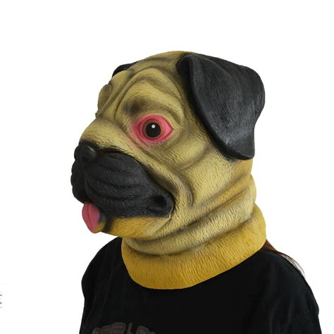 pug mask with moving animal pug mask for pgm h150010 partygears