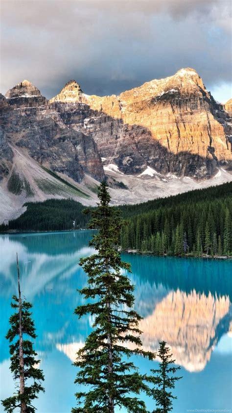 beautiful mountain  lake scene wallpapers desktop