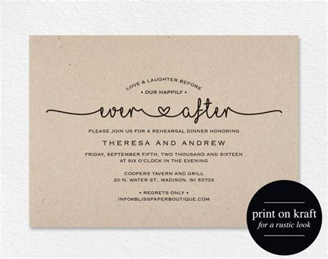Wedding Announcements After The Wedding by Rehearsal Dinner Invitation And Laughter Before Our
