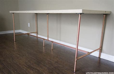 How To Build A Copper Pipe Desk Mountain Modern Life Diy Desk Pipe