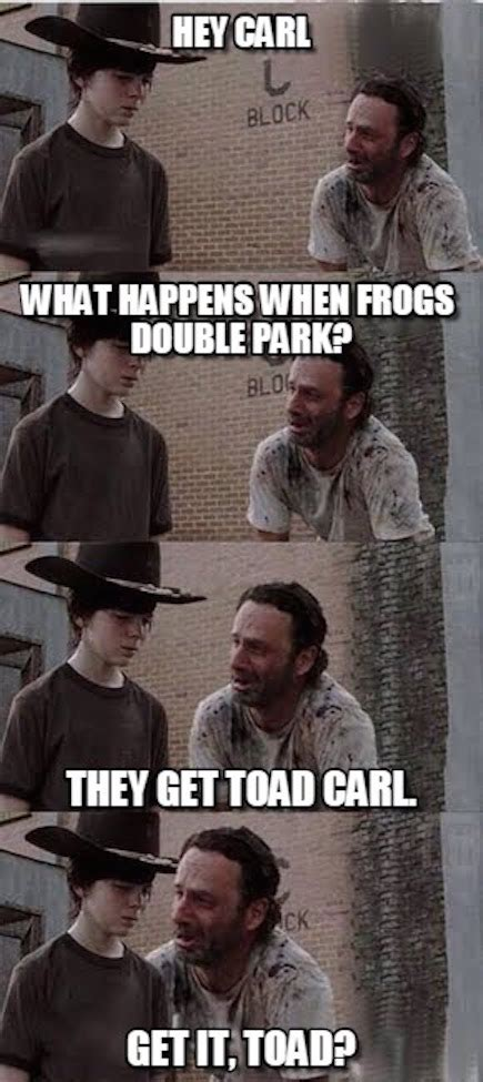 The Walking Dead Carl Meme - the walking dead 23 of the funniest rick carl dad
