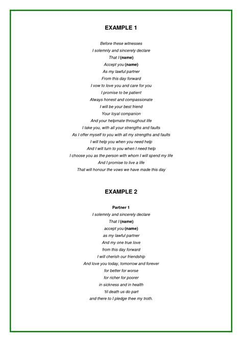 scope of work template   Wedding ideas   Wedding vows