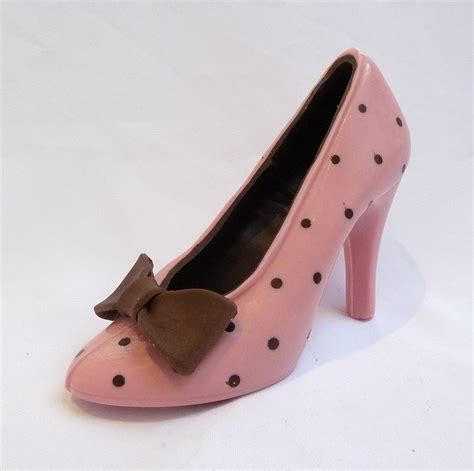 Shoe Polkadot Pink large chocolate shoe pink polka dot by clifton cakes