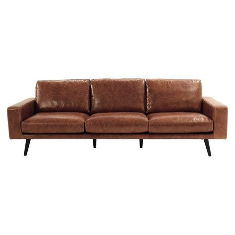 divani in cuoio divano marrone cognac in cuoio 4 posti clark maisons du