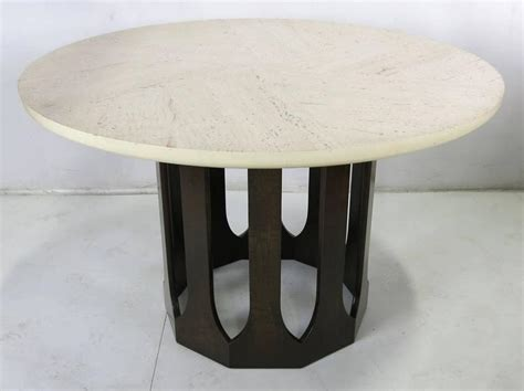 Mahogany Dining Table With Travertine Top By Harvey Travertine Top Dining Table