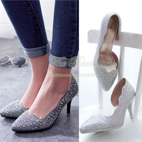 popular 3 inch silver glitter heels buy cheap 3 inch