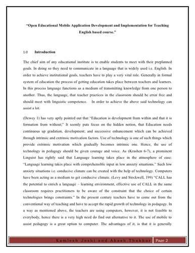 How To Make An Introduction For A Research Paper - a research paper introduction sle