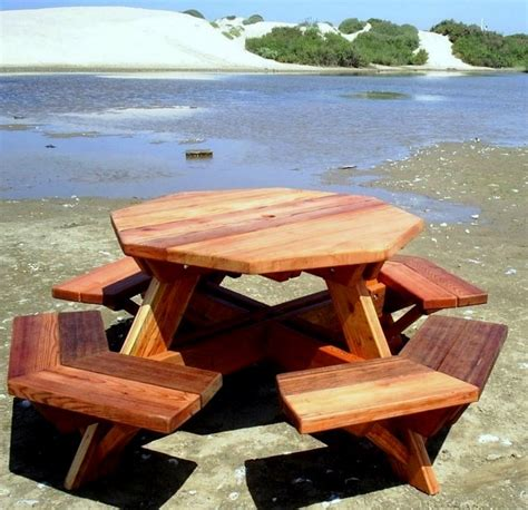 octagon wood picnic table wood octagon picnic tables for sale 187 plansdownload