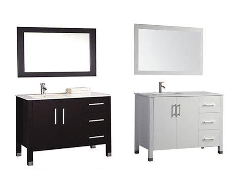 "Monaco 40"" Single Sink Bathroom Vanity Set (Sink on Left Side"