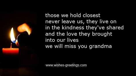 Deceased Grandmother Birthday Quotes Grandma Condolence Messages For Death Grandmother