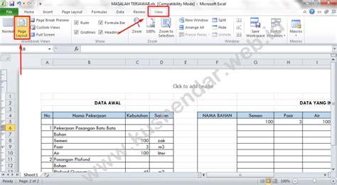 page layout on excel memunculkan nomor dan tanggal di hasil print excel 2010