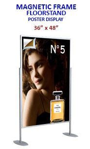 48 X 60 Poster Frame by Magnetic Frame Poster Display Floorstand 36x48 At