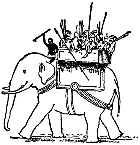 war elephant coloring pages war elephant drawing