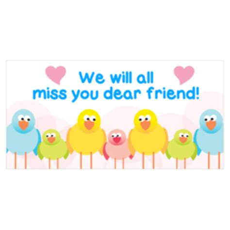We Miss You Card Template by Custom Farewell Going Away Banners Printastic