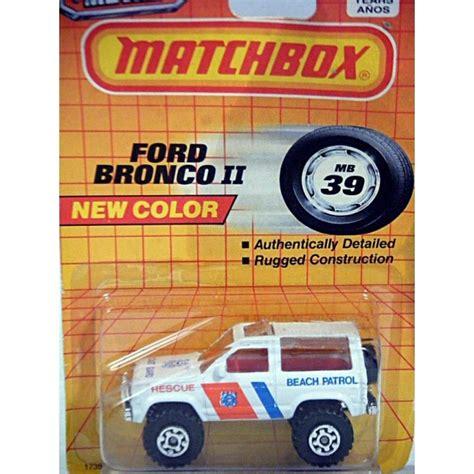 Matchbox Ford Bronco 4x4 matchbox coast guard rescue ford bronco 4x4