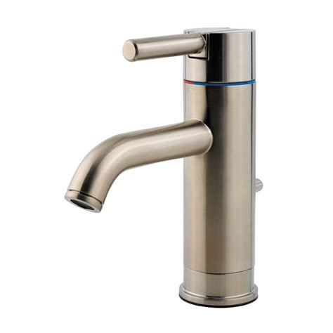 Do Faucets Come With Drains by Pfister Gt42 Nk00 Brushed Nickel Contempra Single
