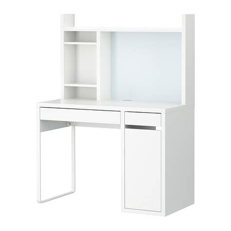 Small White Computer Desk Ikea Micke Workstation White Ikea
