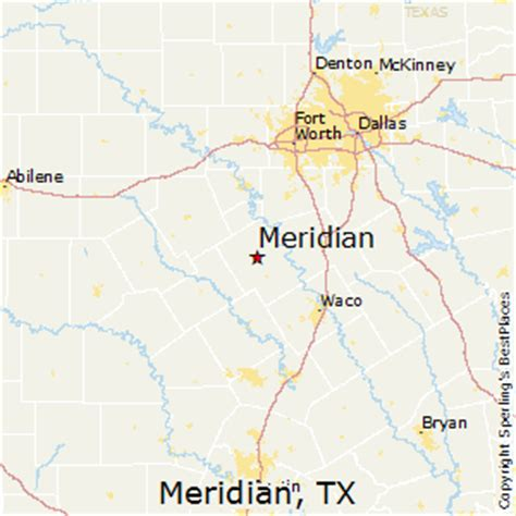 meridian texas map best places to live in meridian texas