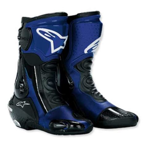 blue motorbike boots alpinestars smx plus motorcycle boots blue
