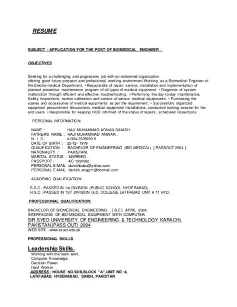 application letter biomedical engineer application letter biomedical engineer 28 images