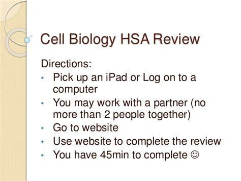 Can I Get An Mba With A Biology Degree by Cell Biology Hsa Review