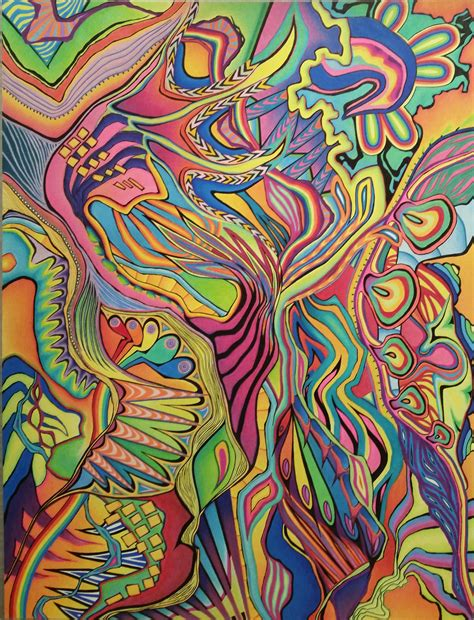 markers and colored pencils colored pencil and marker abstract drawing