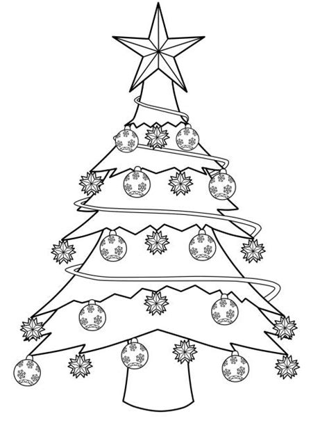 weihnachtsbaum mit photos zum anmalen kostenlose malvorlage weihnachtsb 228 ume geschm 252 ckter weihnachtsbaum zum ausmalen