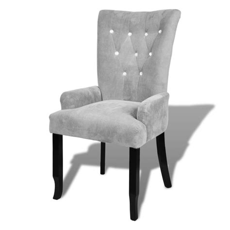 Luxury Armchair luxury armchair velvet coated silver vidaxl