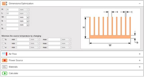 heat sink dissipation calculator heat sink calculator focused on heat sink analysis